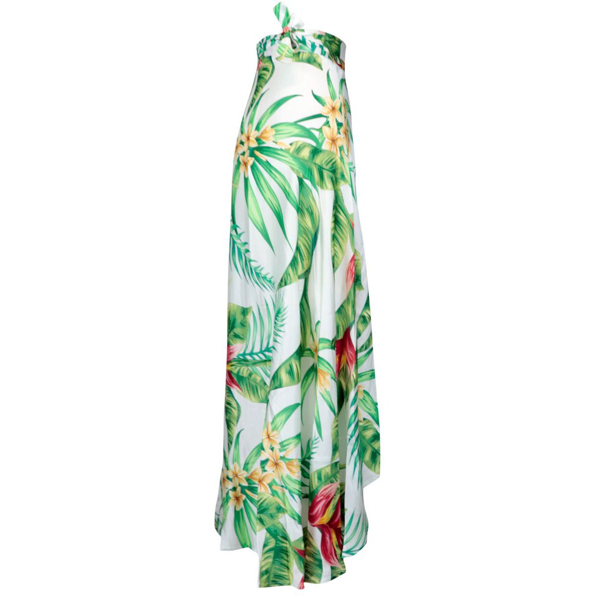 Long skirt in floral print viscose White / teal MC2 Saint Barth