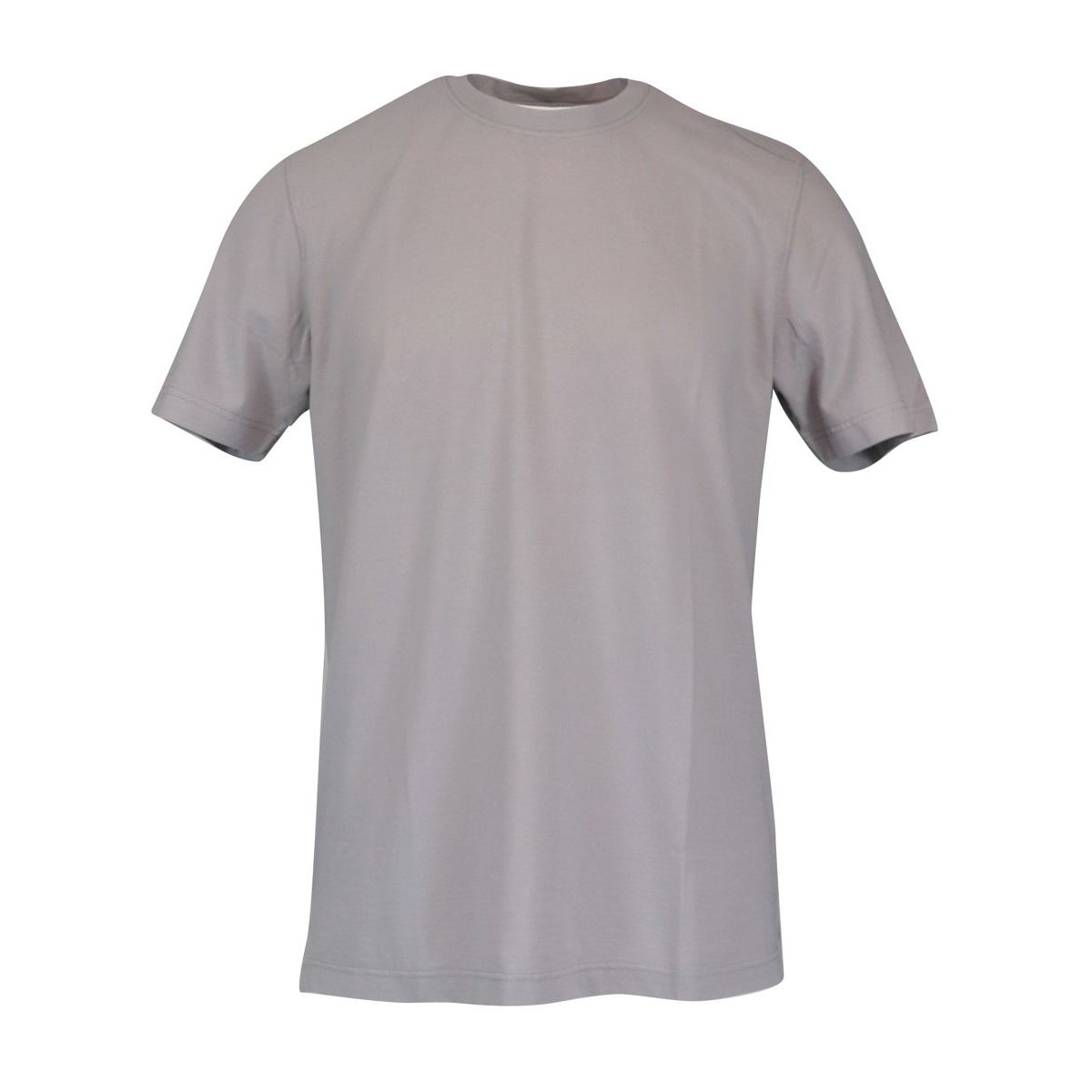 Crew neck t-shirt in ice cotton Light grey Gran Sasso