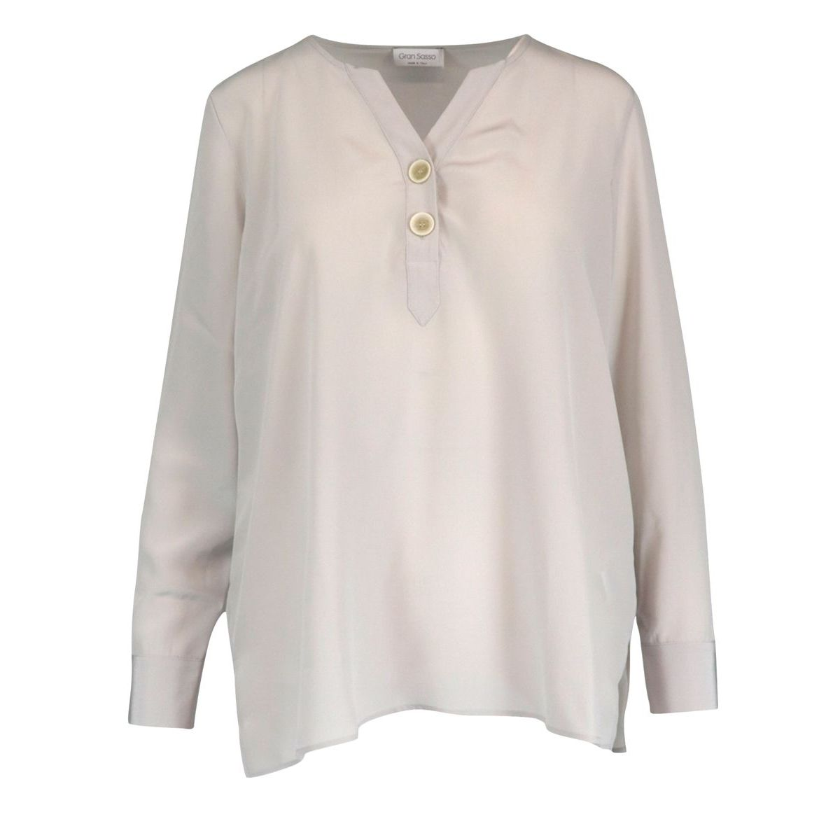 Silk blouse with two buttons Ice Gran Sasso