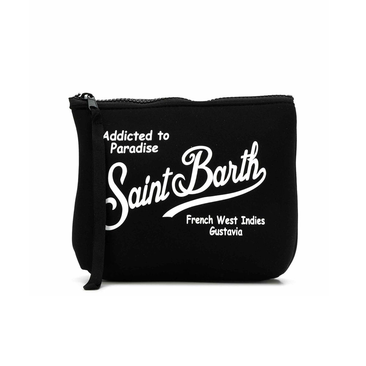 Aline clutch bag in scuba Black MC2 Saint Barth