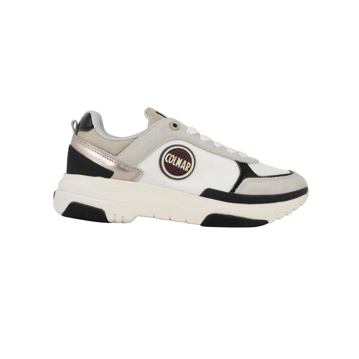 Travis S-1 bi-material sneakers with metal details White / gray Colmar Shoes