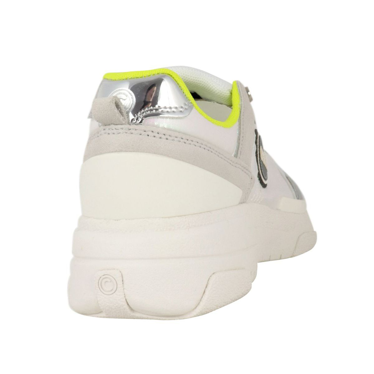 Travis S-1 bi-material sneakers with metal details White / lime Colmar Shoes
