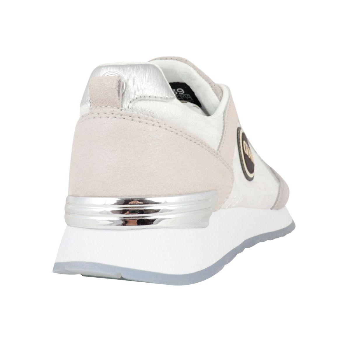 Travis Prime bi-material sneakers with metal details Light gray Colmar Shoes