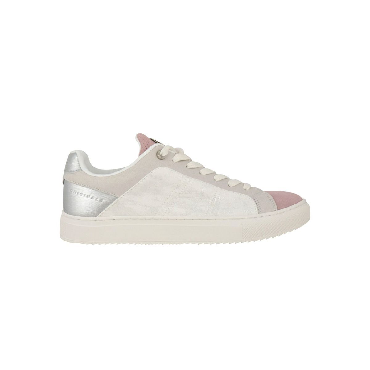 Bradbury Prime bi-material sneakers with box bottom Pink Colmar Shoes