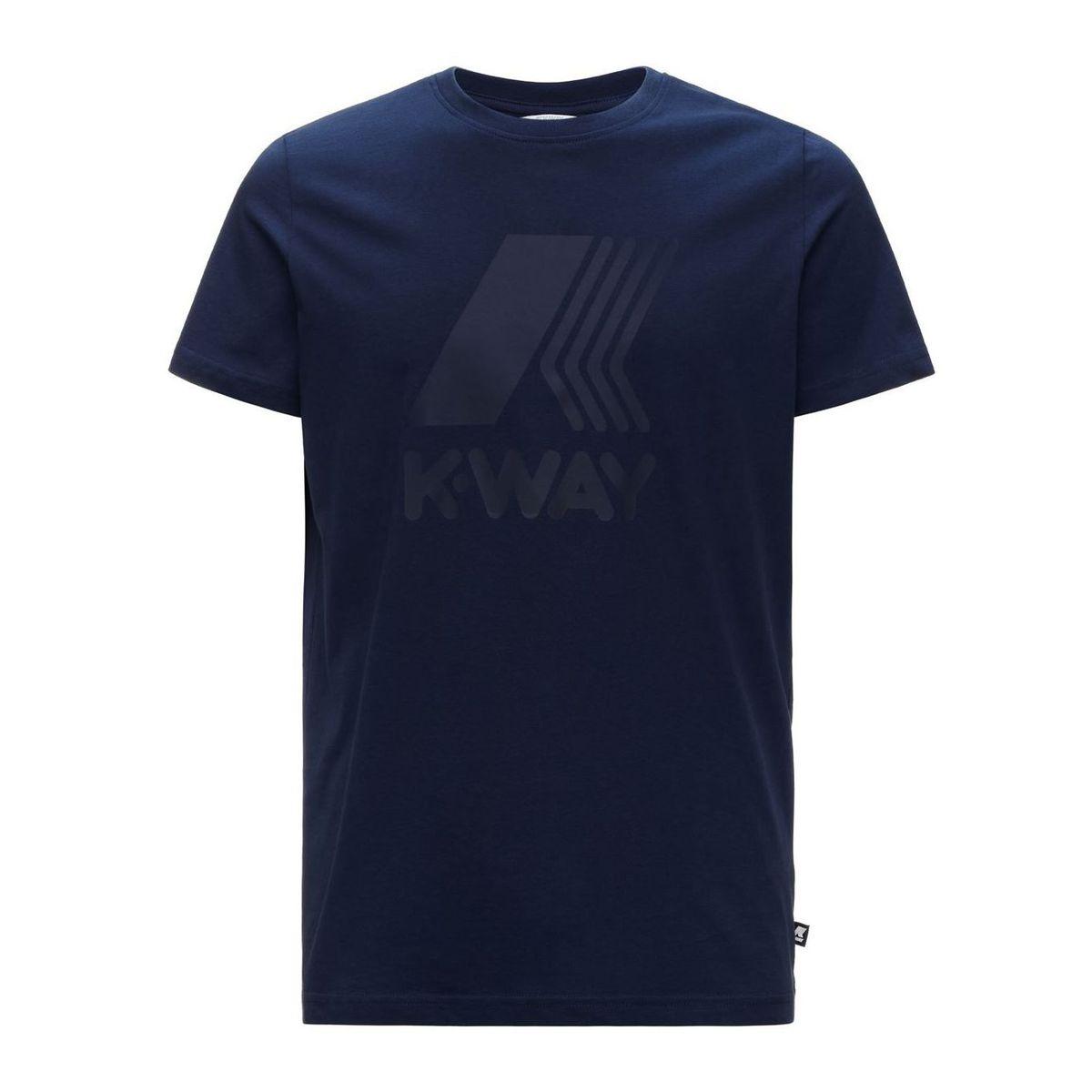 Elliot cotton T-shirt with large logo print Blue K-Way