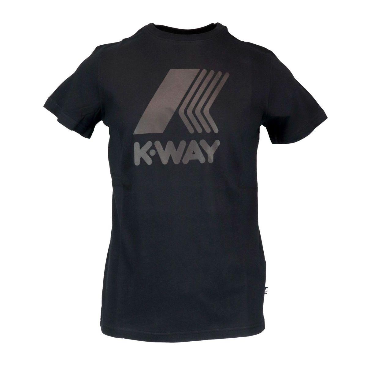 Elliot cotton T-shirt with large logo print Black K-Way