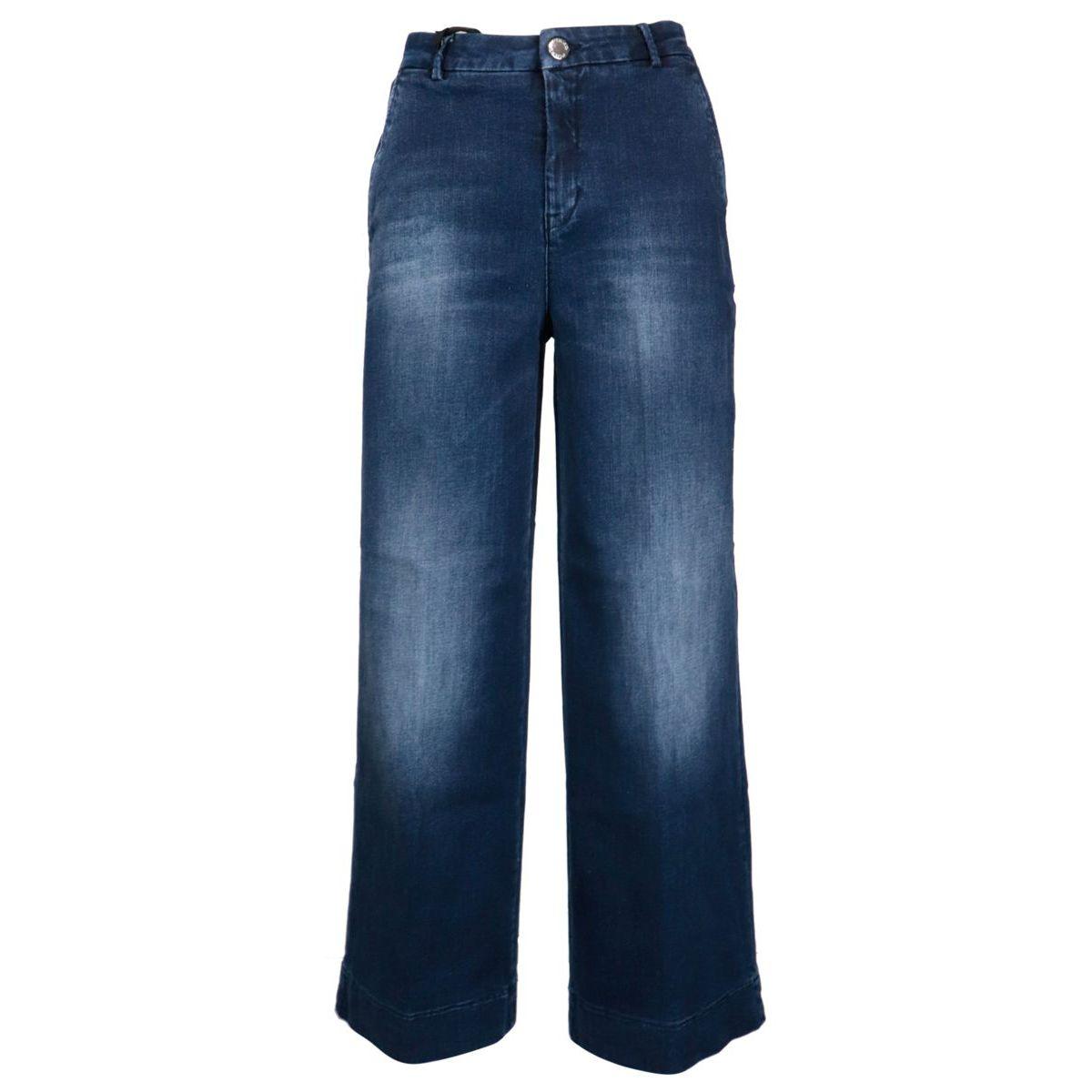 Palazzo jeans in dark denim Blue denim Pinko