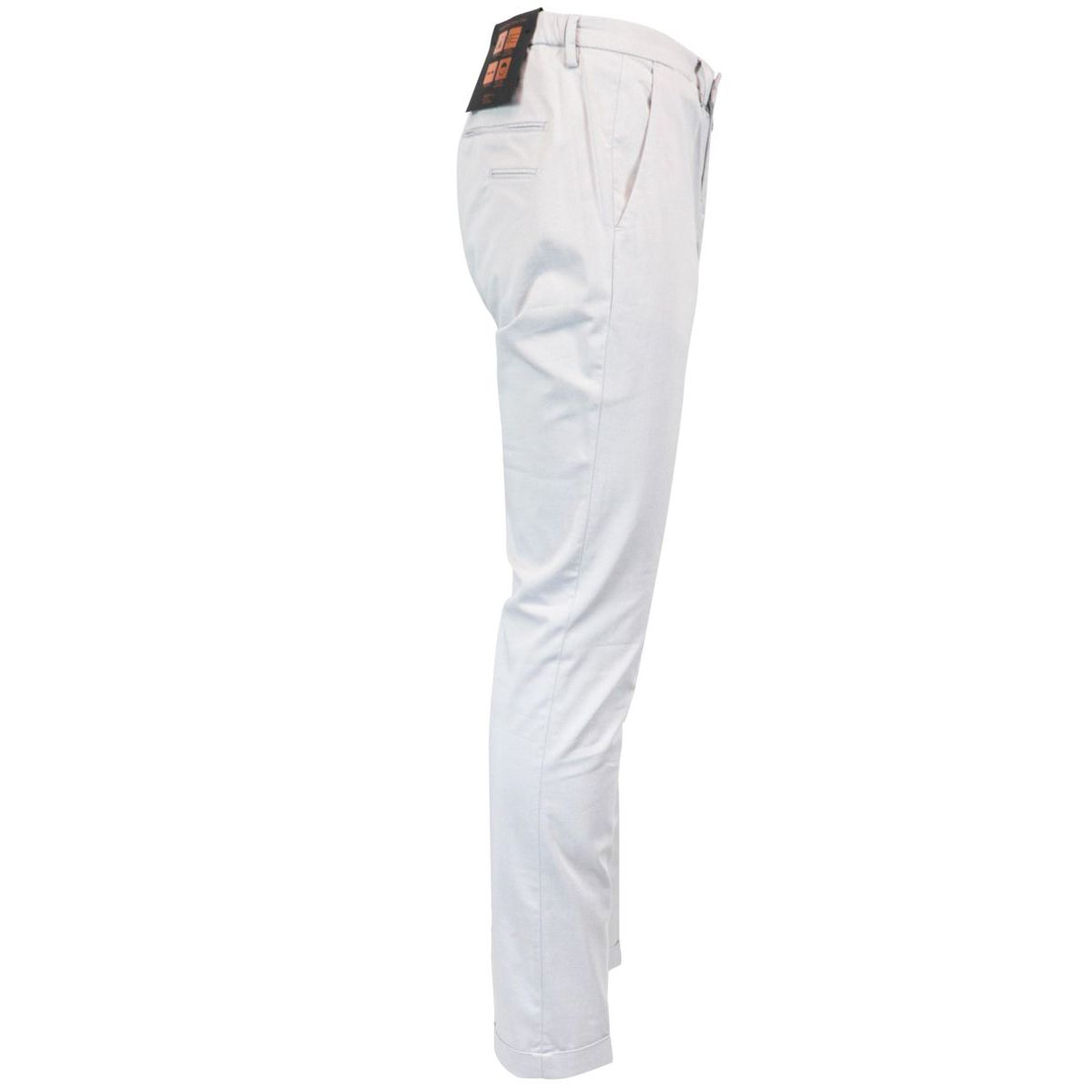 Stretch cotton trousers with turn on the bottom Ice Briglia