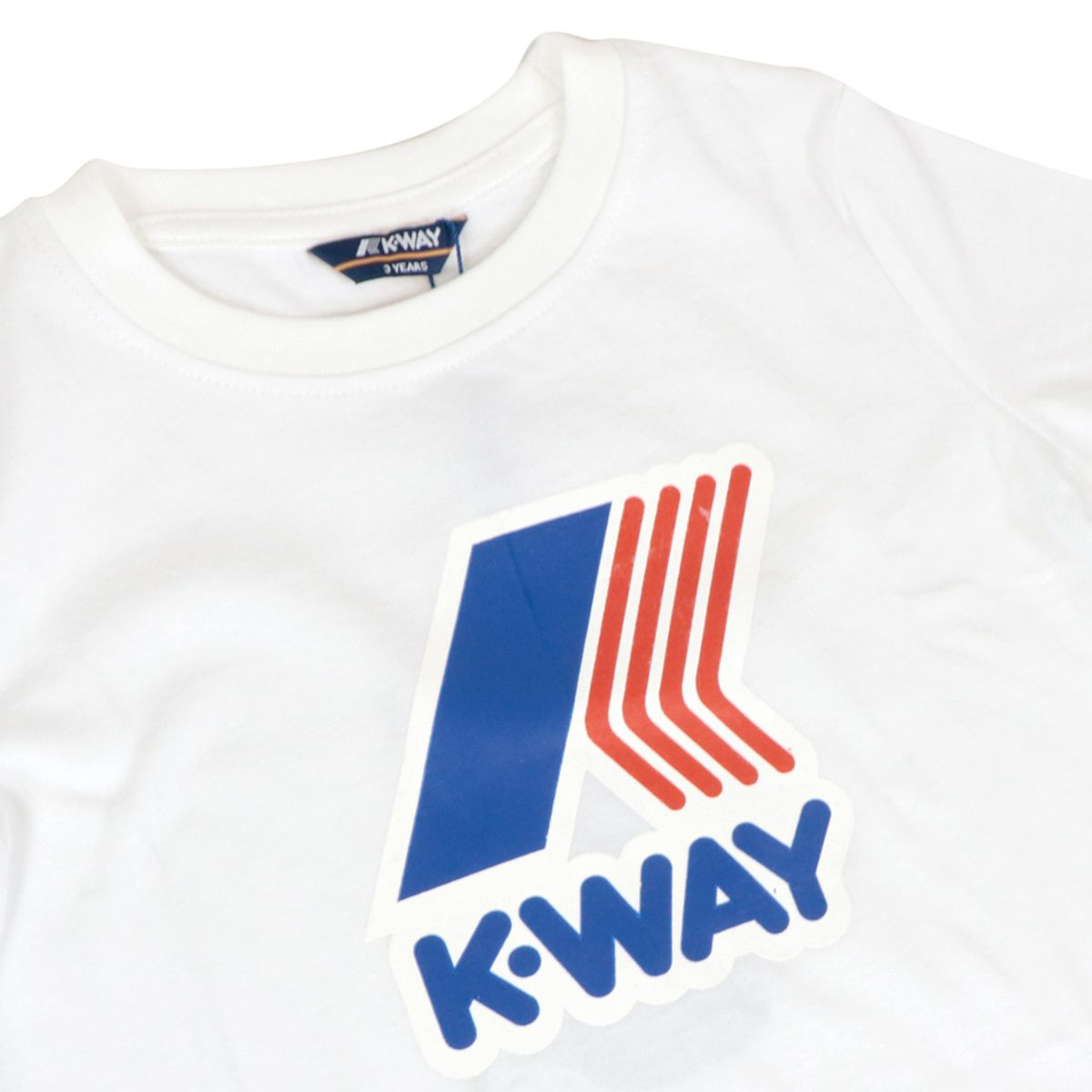 Crew neck T-shirt Pete Macro logo in cotton blend White K-Way