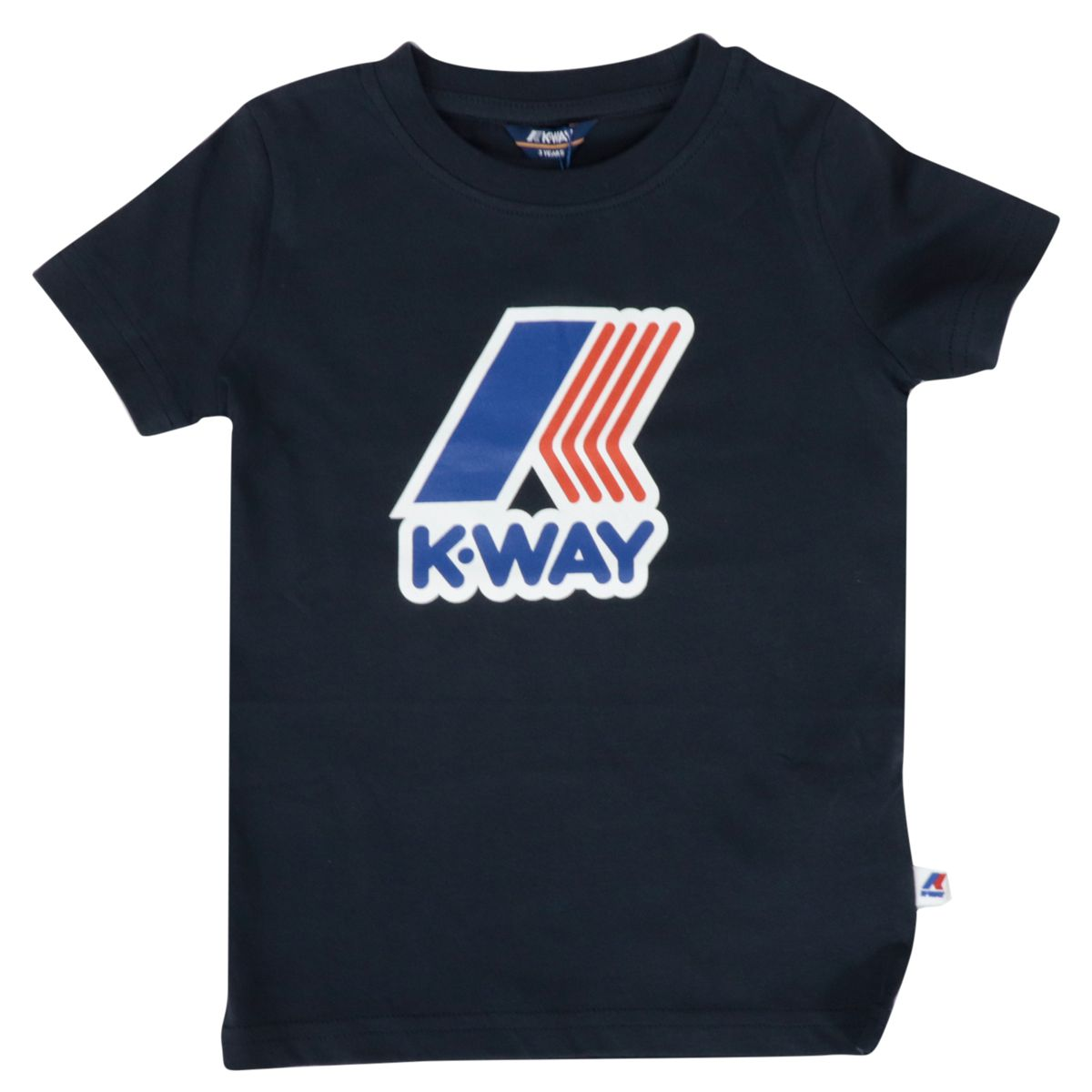 Crew neck T-shirt Pete Macro logo in cotton blend Blue K-Way
