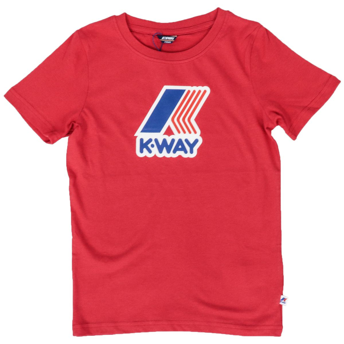 Crew neck T-shirt Pete Macro logo in cotton blend Red K-Way