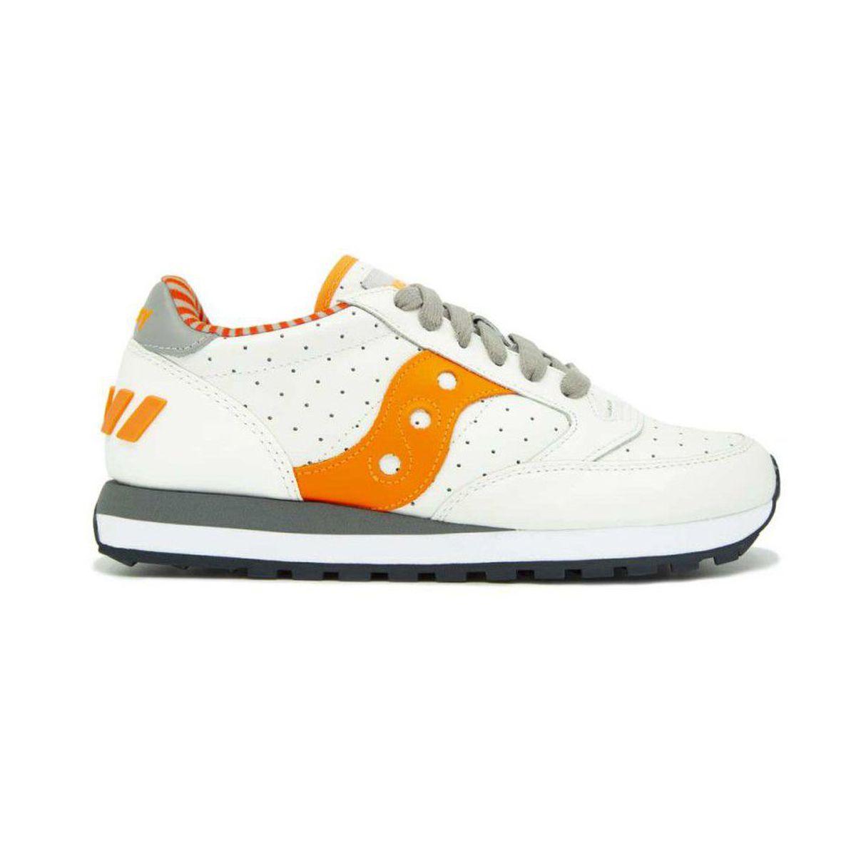 Jazz leather sneakers White / orange Saucony