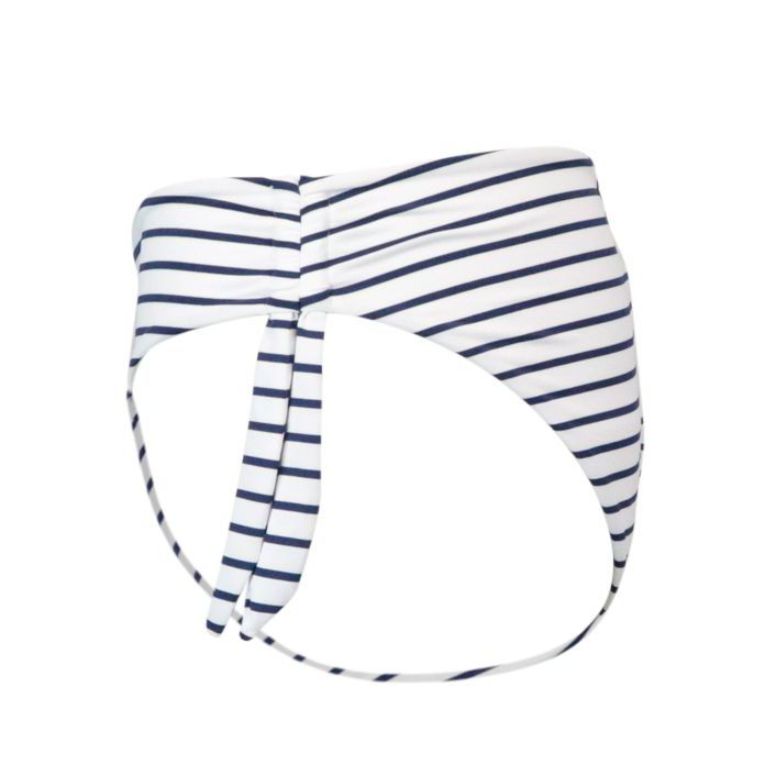 Loren briefs in stretch polyamide White / blue line MC2 Saint Barth