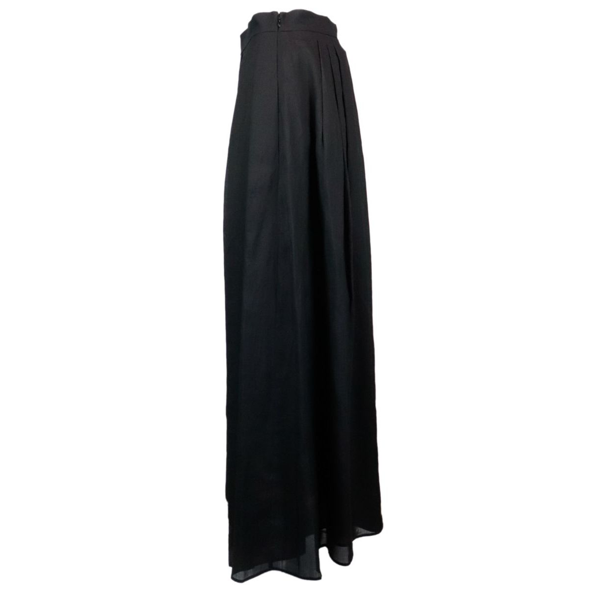 Marusca wide cotton skirt with pleats Black Max Mara