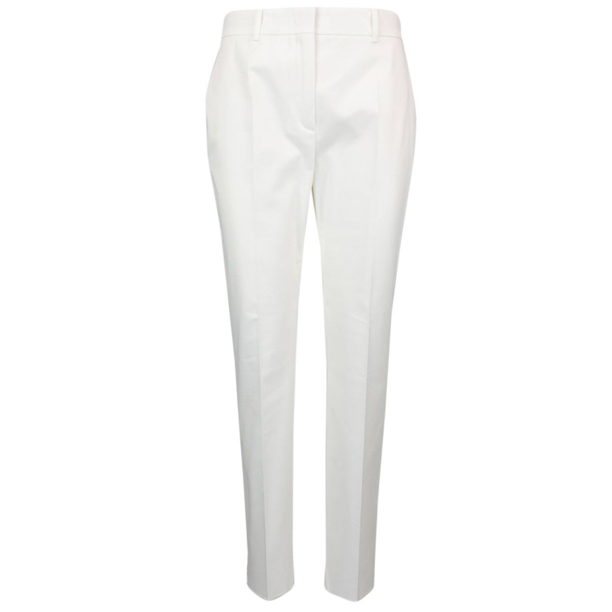 Baldo silk cigarette trousers White Max Mara