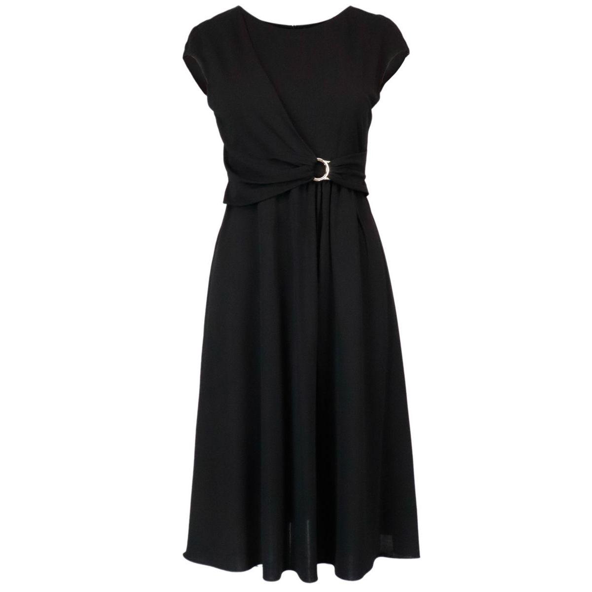 Antares midi dress in soft viscose Black Max Mara