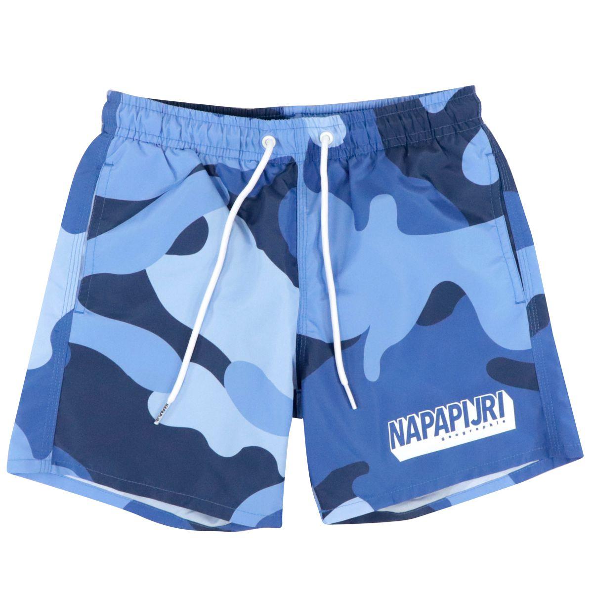 Costume a boxer fantasia camouflage Camouflage blu NAPAPIJRI