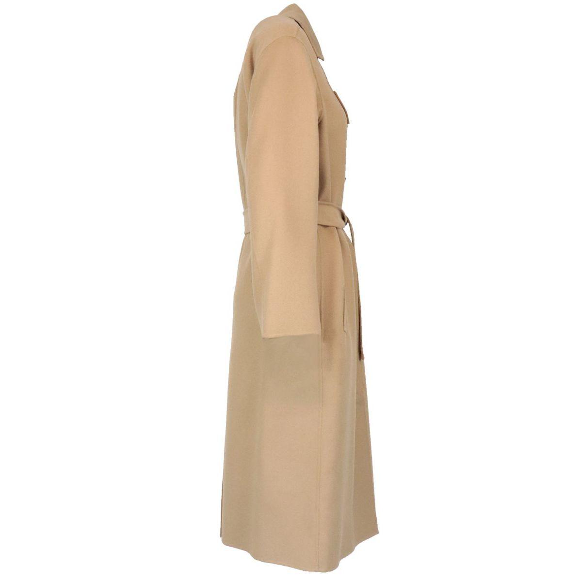 Belted Ermanna coat in wool blend Camel MAX MARA STUDIO