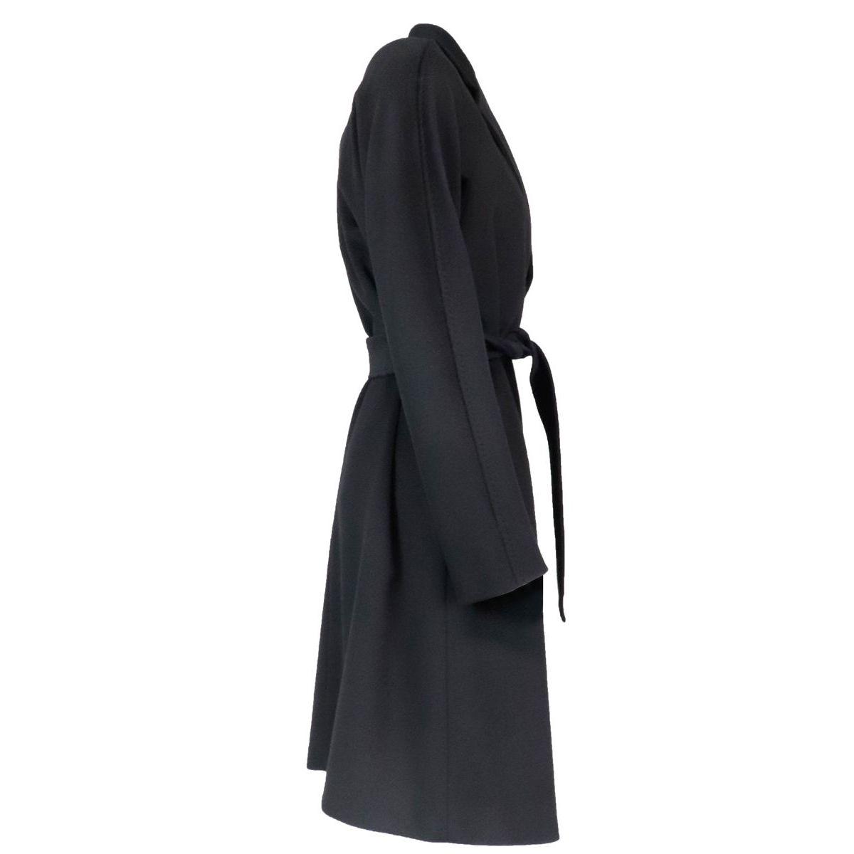 Luana belted coat in pure wool Black MAX MARA STUDIO