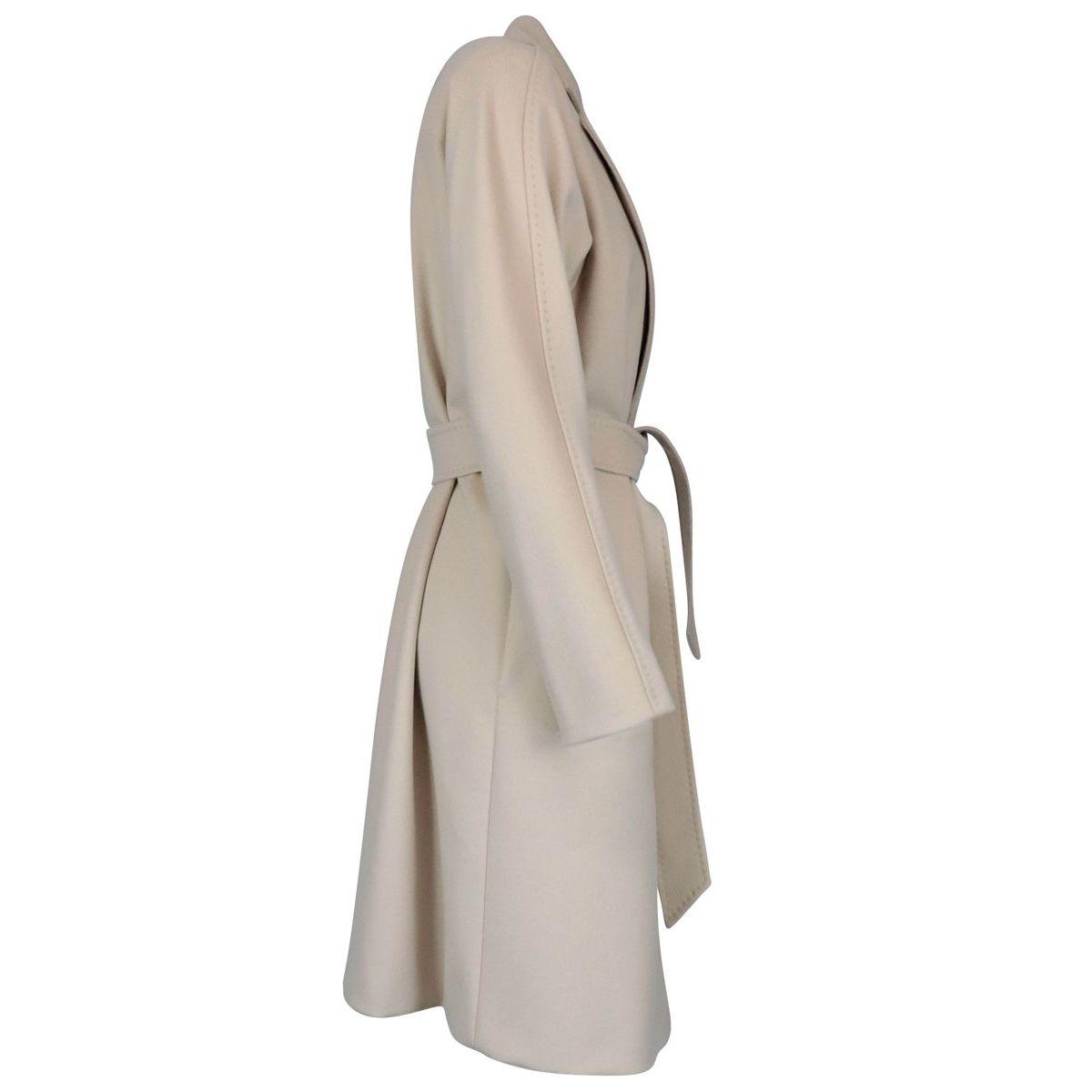 Luana belted coat in pure wool Vanilla MAX MARA STUDIO