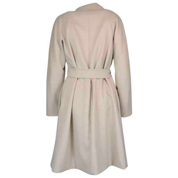 Luana belted coat in pure wool Vanilla MAX MARA STUDIO