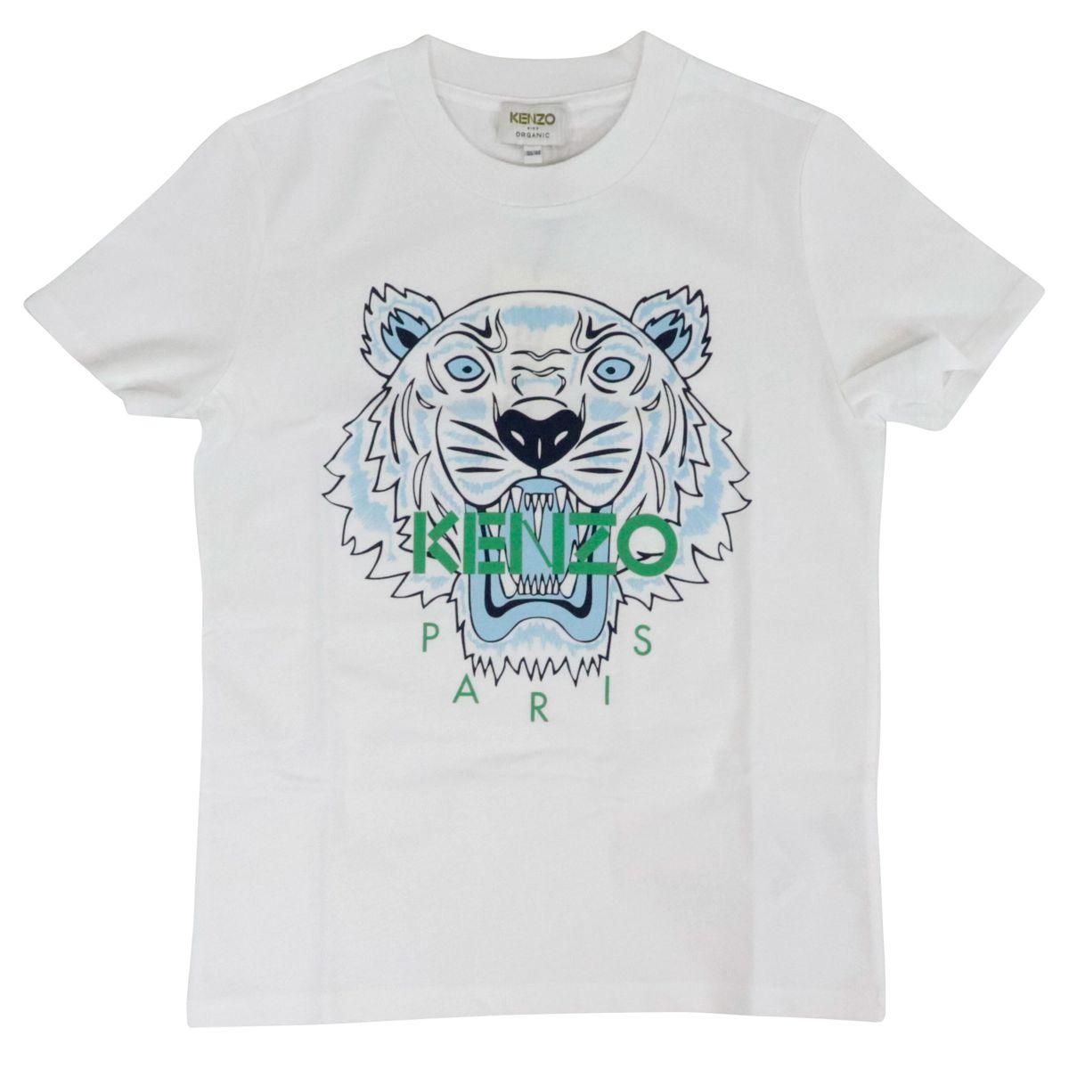 T-shirt in cotone con stampa tigre Bianco ottico Kenzo