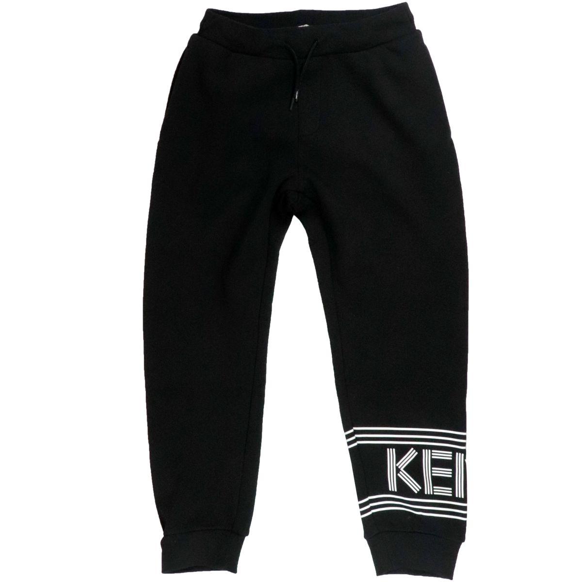 Pantalone sportivo in misto cotone con stampa logo Nero Kenzo