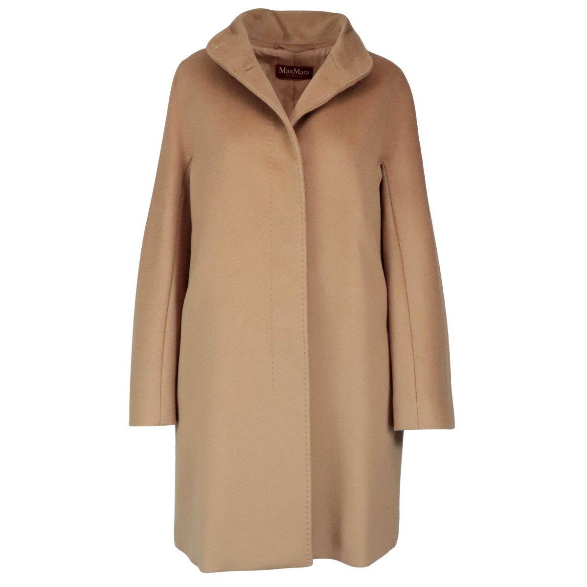 Coat with standing collar Zenit in virgin wool Camel MAX MARA STUDIO