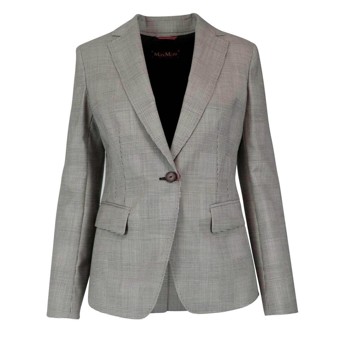 Massimo virgin wool jacket Vichy black / white MAX MARA STUDIO