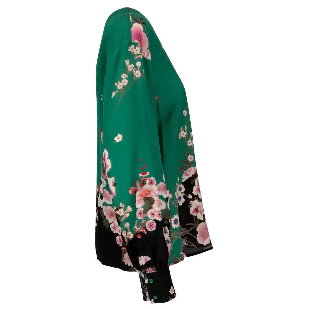 Este silk shirt Green black MAX MARA STUDIO
