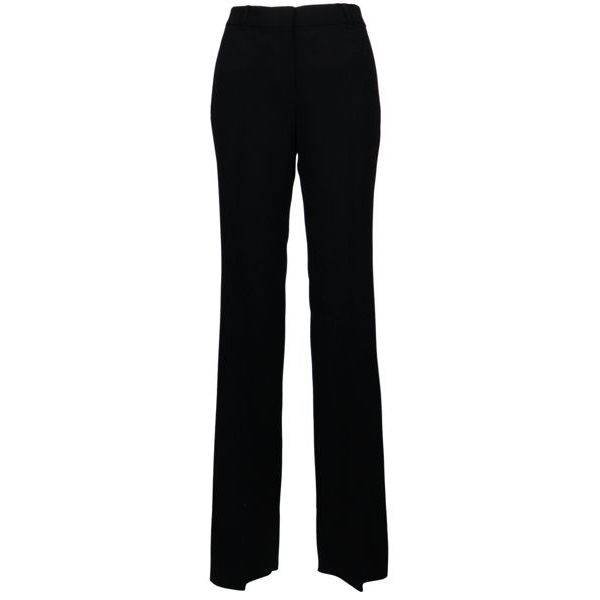 Trousers with wide Celia triacetate bottom Black MAX MARA STUDIO