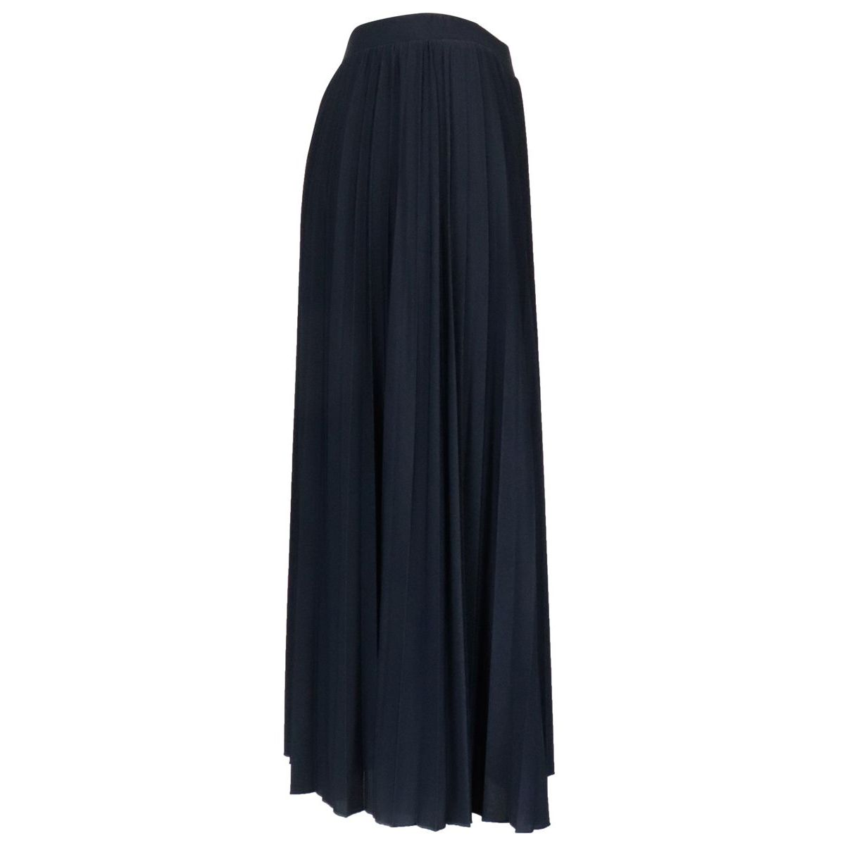 Dotto pleated skirt in stretch polyester Navy MAX MARA STUDIO