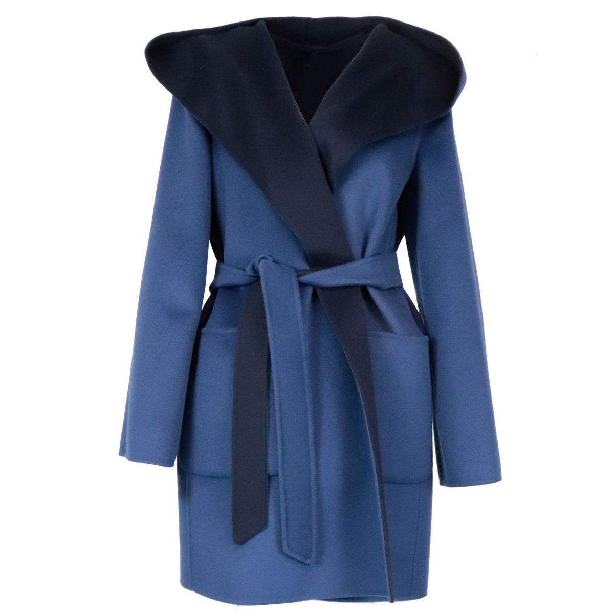 Candido reversible coat in pure wool Avio MAX MARA STUDIO