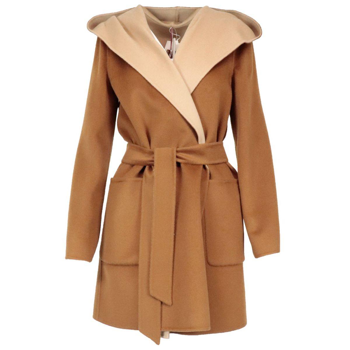 Candido reversible coat in pure wool Camel MAX MARA STUDIO
