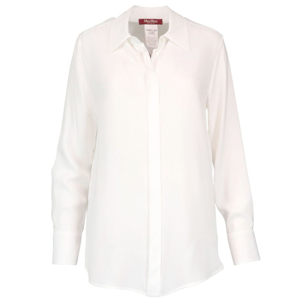 Enea pure silk shirt Optical white MAX MARA STUDIO