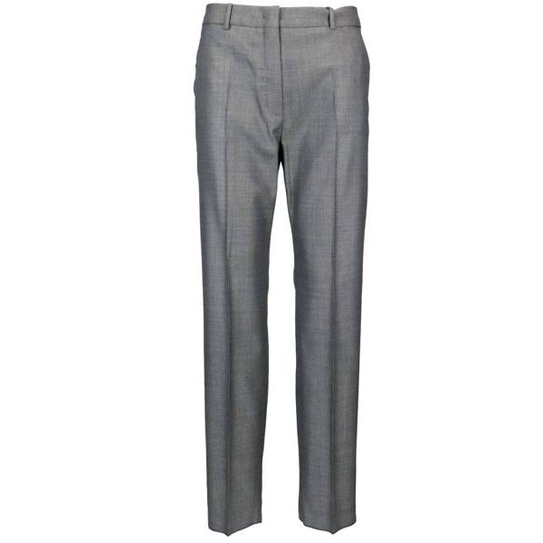 Polis cigarette trousers in wool and silk with micro-pattern White black MAX MARA STUDIO
