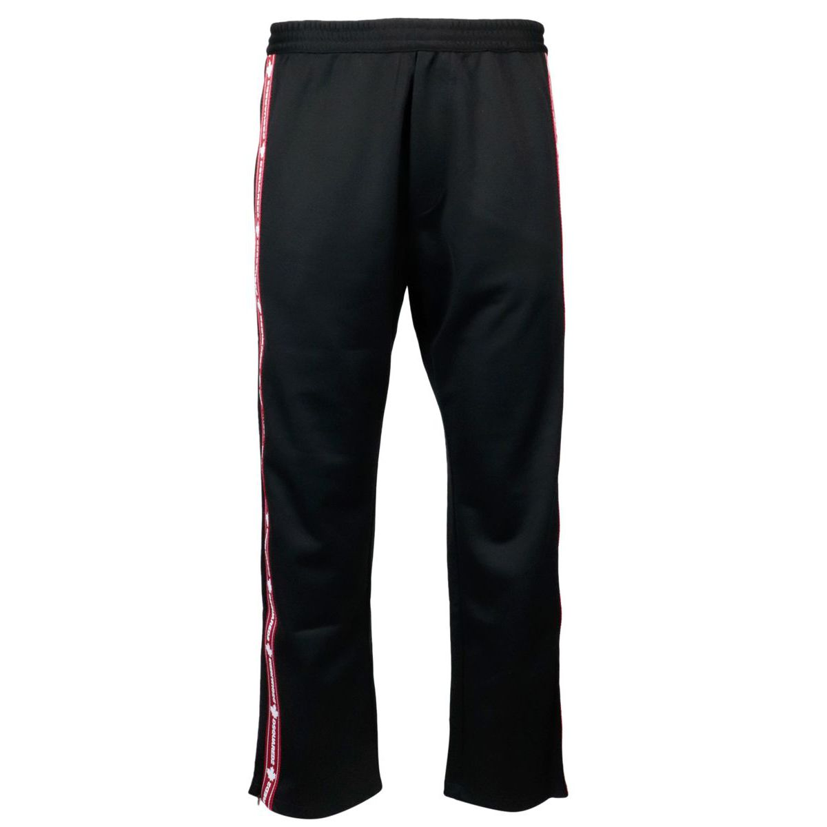 Sports trousers in cotton blend with logoed side band Black Dsquared2