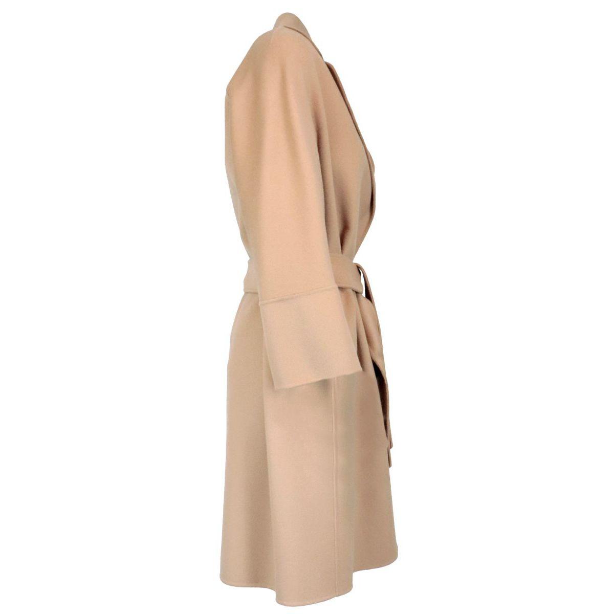 Belted coat in Arona wool Camel S MAX MARA