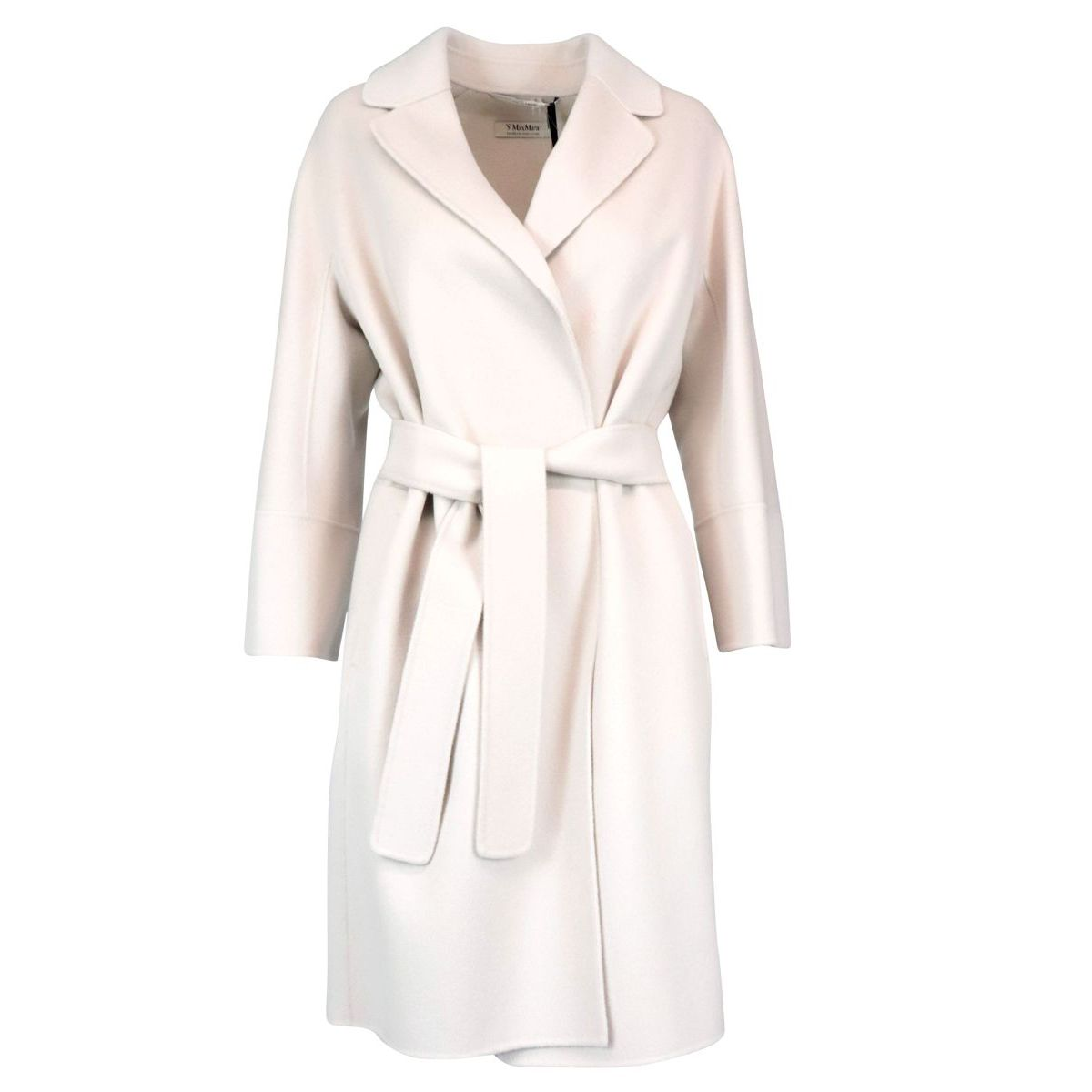 Belted coat in Arona wool Ice S MAX MARA