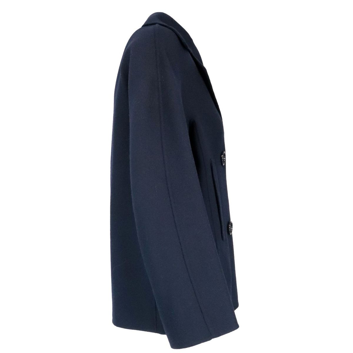Connie double-breasted jacket in pure wool Navy S MAX MARA
