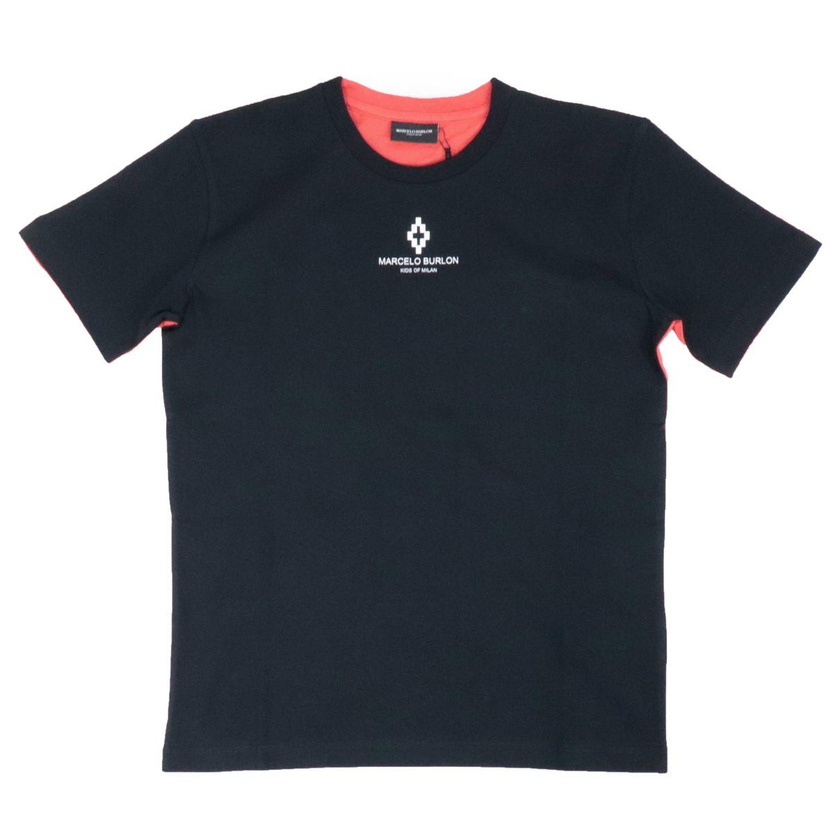 T-shirt Otromundo in cotone bicolore Nero MARCELO BURLON