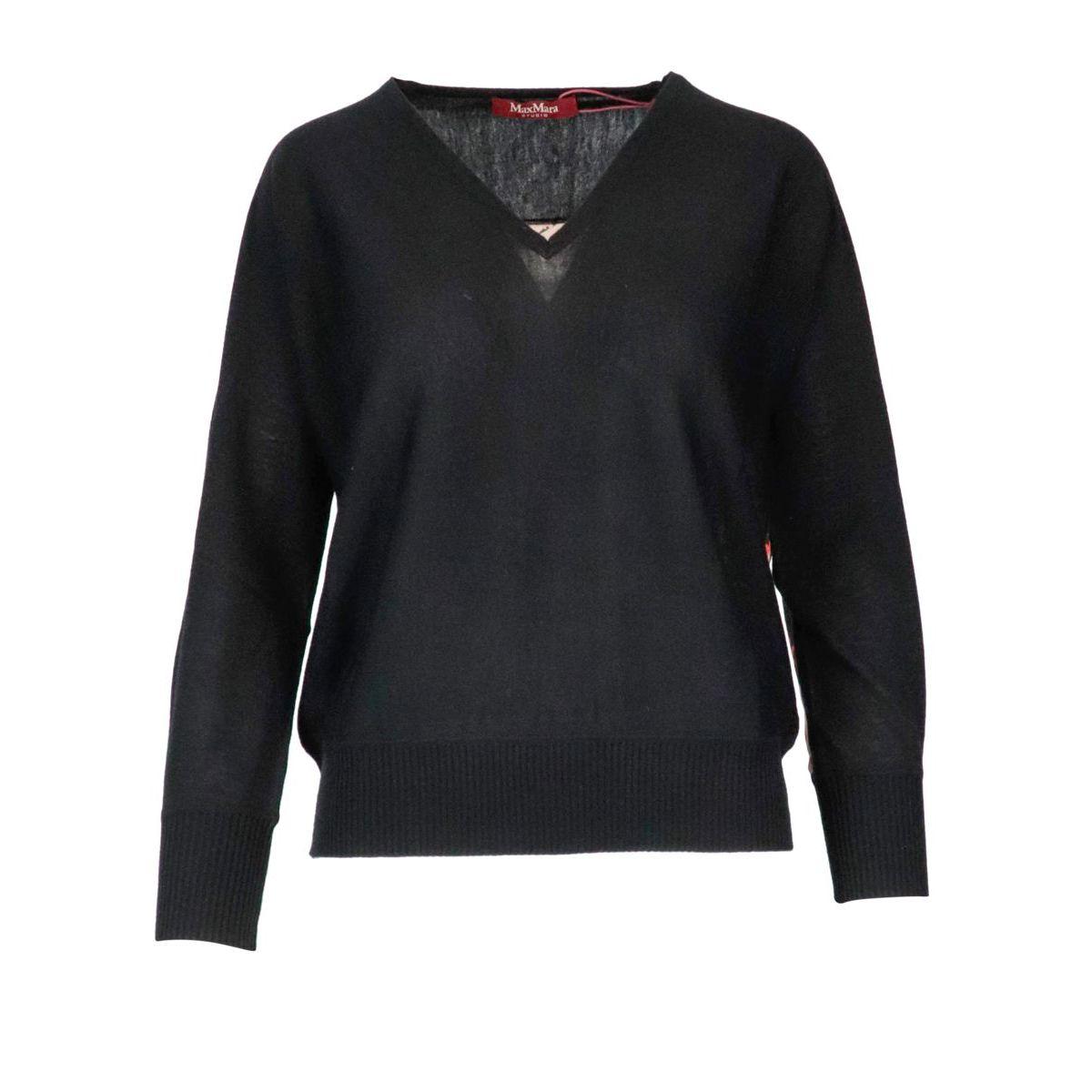Coimbra wool and silk sweater Black MAX MARA STUDIO