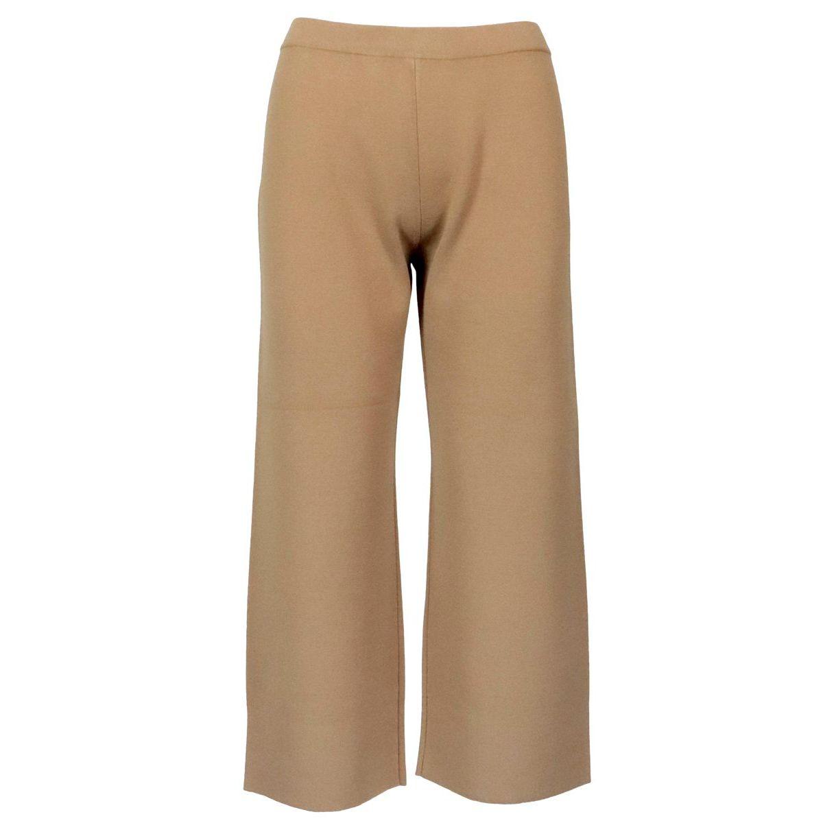 Fairy cropped trousers in viscose blend Camel MAX MARA STUDIO