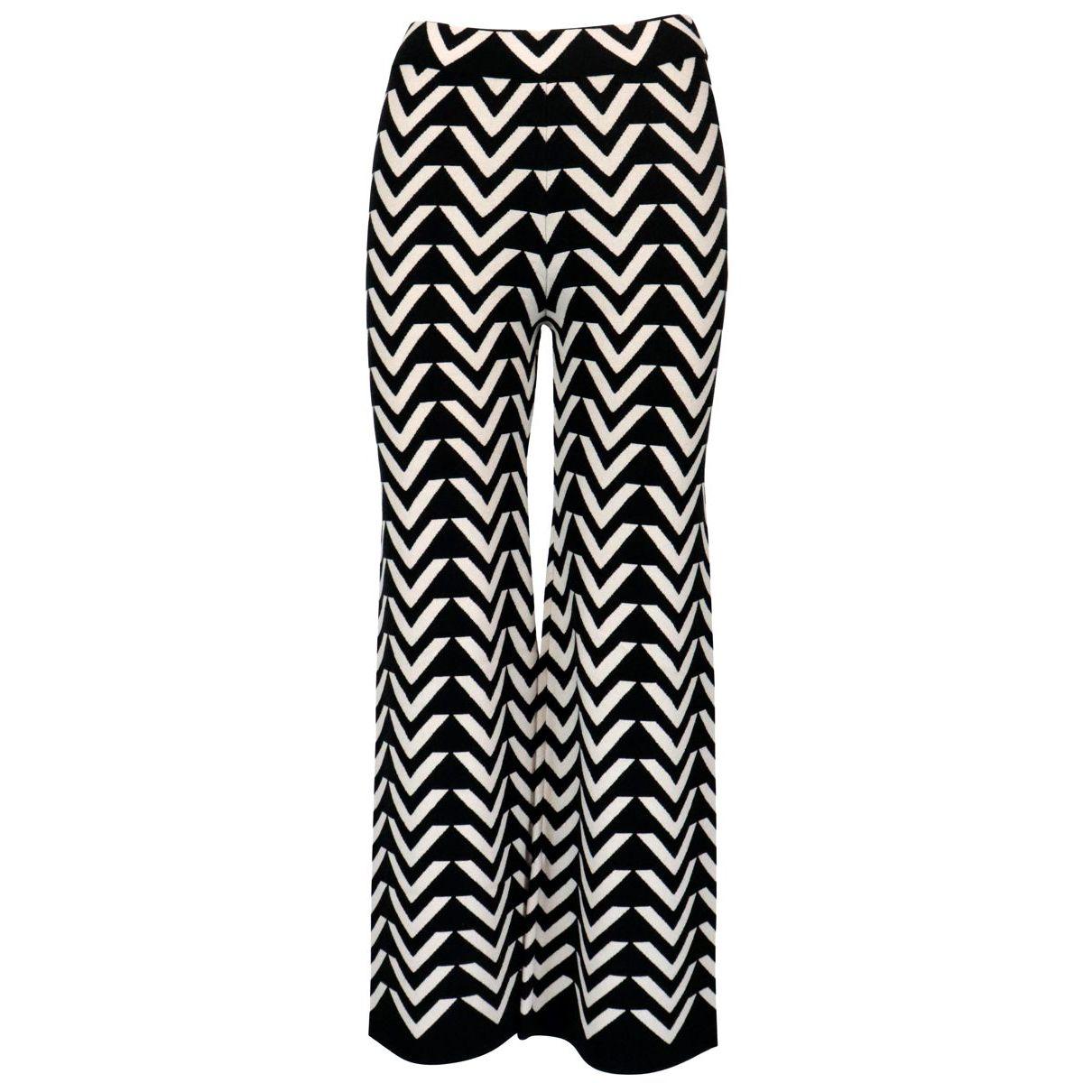 Orvieto trousers in viscose knit White black S MAX MARA