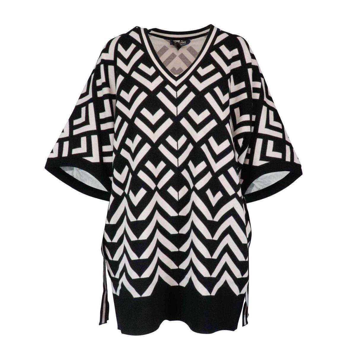 Efedra sweater in viscose blend White black S MAX MARA