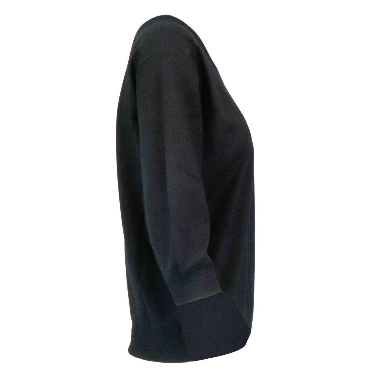 Spoleto viscose blend sweater Black S MAX MARA