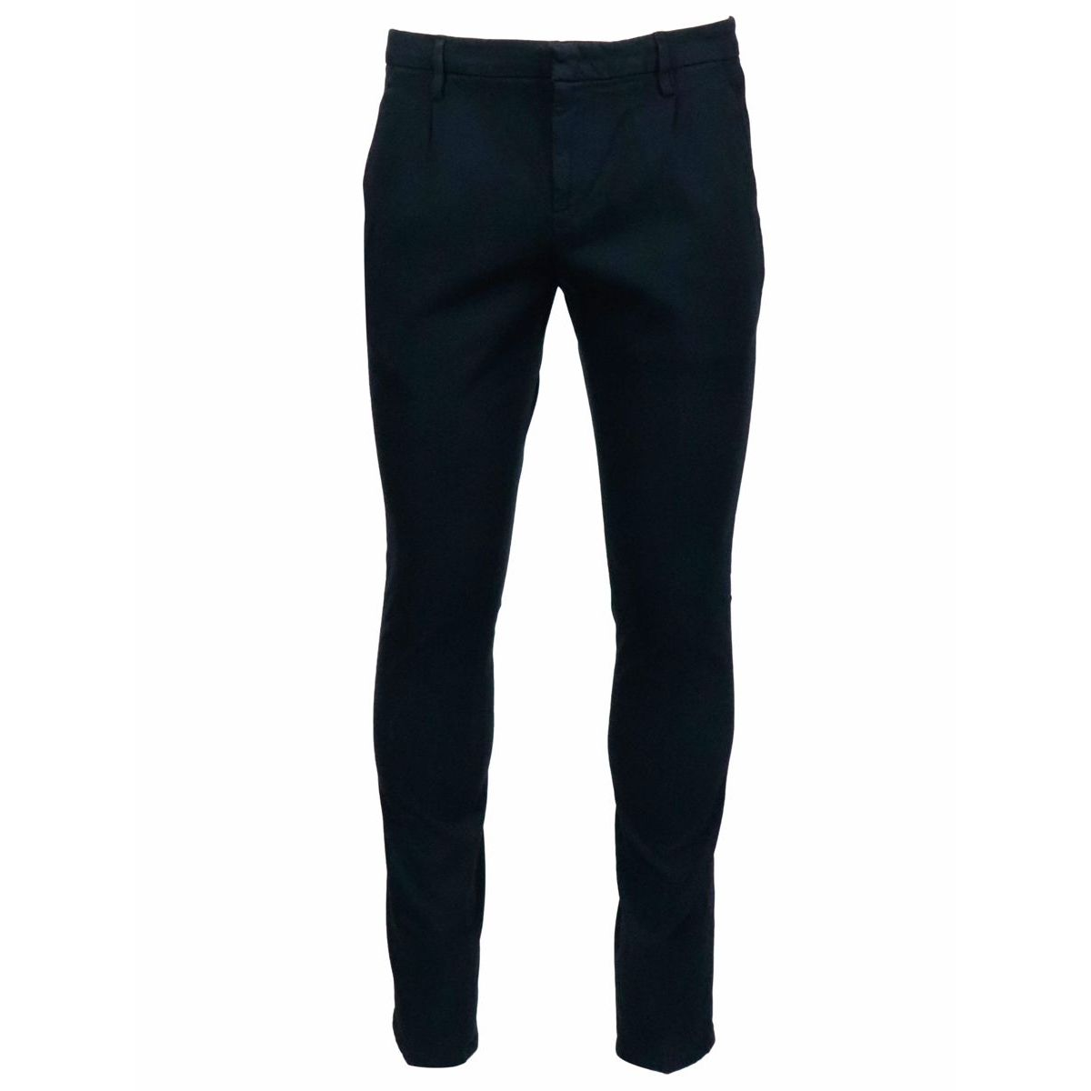 Gaubert trousers with pleats in cotton blend Blue Dondup