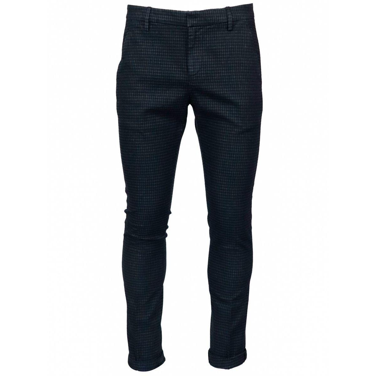 Slim Gaubert trousers in cotton blend Navy Dondup