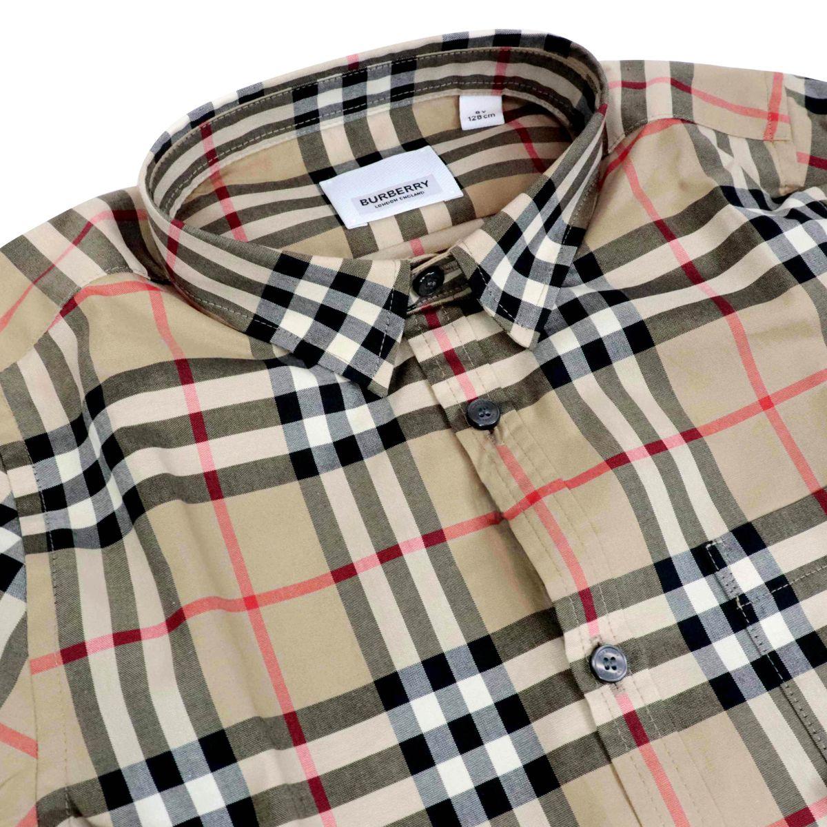 Camicia in cotone Fredrick con fantasia check Check beige Burberry