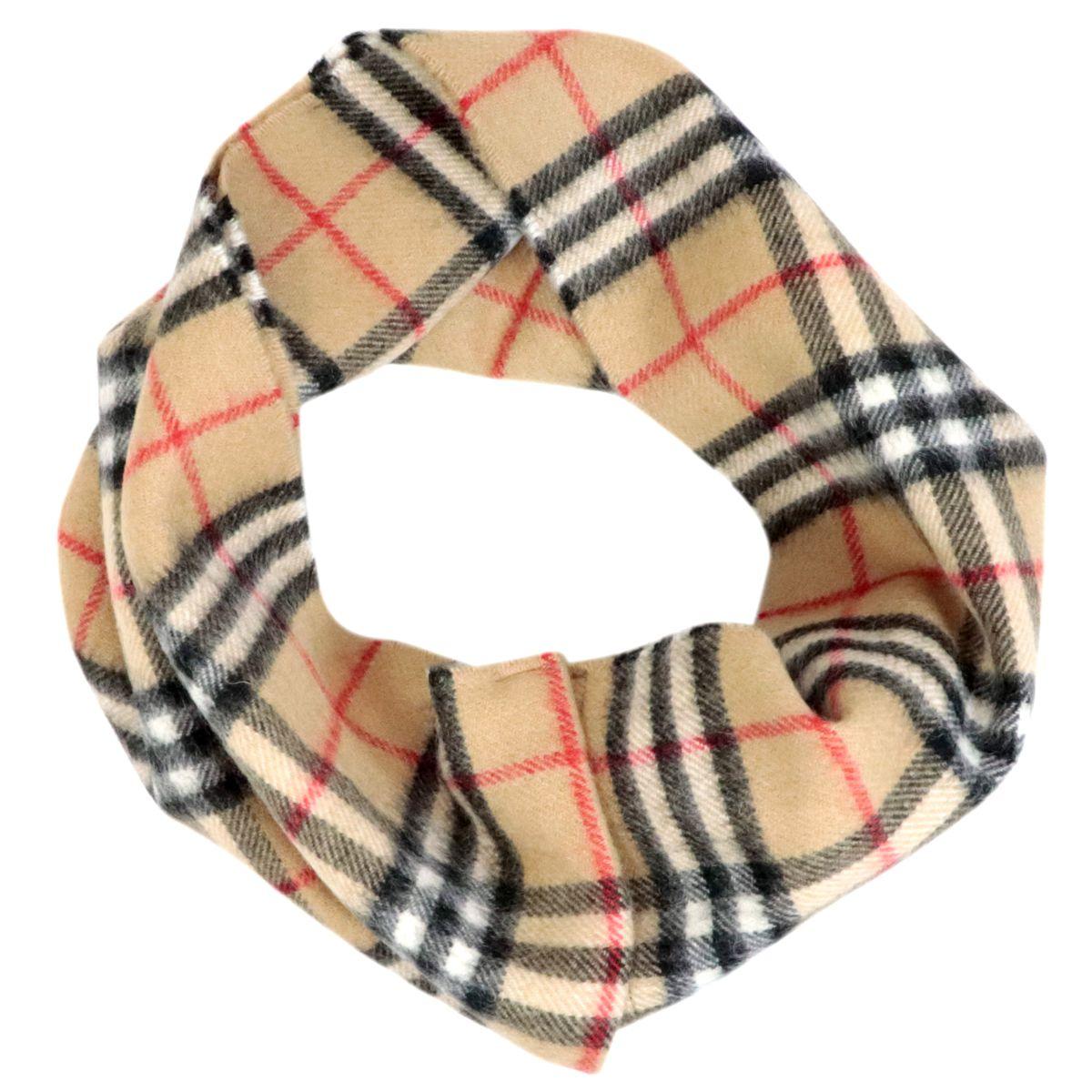 Collo in lana mohair con stampa check Check beige Burberry